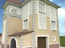 Декор фасаду будинку фото