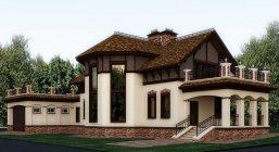 Дизайн фасадов коттеджей фото