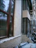 цоколь і фасад з каменю вапняку обробка
